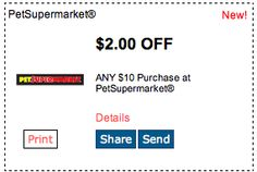 Pet Supermarket $2 Off! Click for more great deals! #Coupons #Deals #Pet #Dog #Petsupermarket