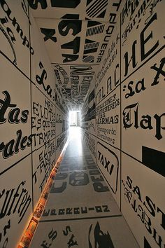 The Tunnel of Typography. Environmental graphic design