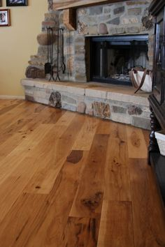 Staining Hickory Wood Floors | hickory wood floor hand scraped wide plank hickory wood floor