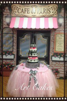 Quinceañera Cake - Paris Theme