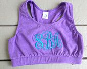 Monogrammed Sports Bra Youth and Adult