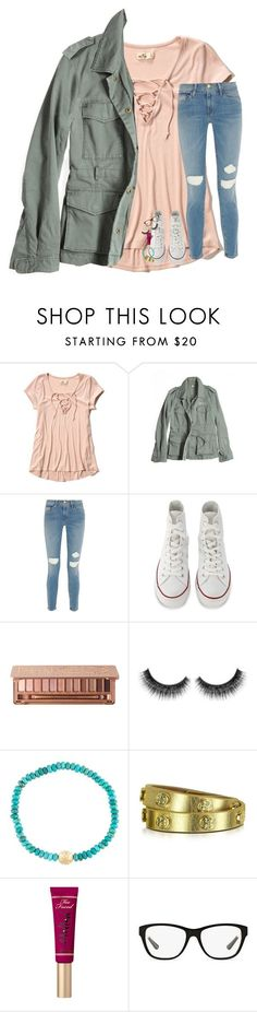 """now all i need is to be away from u"" by lindsaygreys ❤ liked on Polyvore featuring Hollister Co., G1, Frame, Converse, Luis Morais, Tory Burch, Ralph Lauren and LUMO"