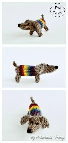 Small Sausage Dog Free Knitting Pattern