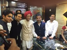 "A PROUD MOMENT. CHAIRMAN OF WORLD""S BEST INDIAN MASALA COMPANY MDH PVT.LTD., MAHASAI DHARAM PAL JI INAUGURATING OUR NEW SHOWROOM IN DELHI."