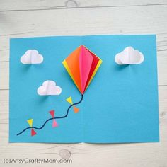 15 Simple Kite Craft Ideas for kids - Homemade ideas using paper bags, plastic, . - 15 Simple Kite Craft Ideas for kids – Homemade ideas using paper bags, plastic, Straw & some that - Arts And Crafts For Teens, Summer Crafts For Kids, Paper Crafts For Kids, Arts And Crafts Projects, Spring Crafts, Preschool Crafts, Paper Crafting, Diy For Kids, Simple Paper Crafts