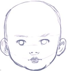 How to Draw a Baby�s Face / Head with Step by Step Drawing Instructions