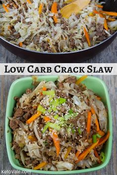 Keto Beef Crack Slaw Low Carb Recipe