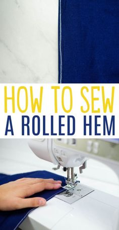 Rolled hems are elegant and professional looking. When  working with thin fabrics like silk or any kind of sheer fabric, you'll want to  know how to sew a rolled hem. While they are perfect for sewing nice looking  blouses, dresses, and kimonos, rolled hems can be tricky to sew. This tutorial  makes it easy. #sewing  #sewingideas #sewingprojects #easysewingideas #sewingprojectsforbeginners  #sewingforbeginners #sewingprojectsforteens #easysewingideas #sewingtips Sewing Basics, Sewing Hacks, Sewing Tutorials, Sewing Patterns, Sewing Tips, Sewing Alterations, Baby Blessing, Stitch Lines, Sewing Aprons