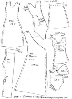 ... clothes patterns free printable | Sewing Barbie Doll Clothes Patterns