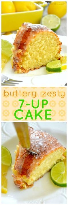 Pound Cake This buttery, zesty Pound Cake is AMAZING! Bursting with juicy lemon and lime flavor, the soda gives this cake such a moist and tender crumb and a wonderful crisp crust.This buttery, zesty Pound Cake is AMAZING! 7up Pound Cake, Pound Cake Recipes, 7up Cake Recipe, Bunt Cakes, Cupcake Cakes, Shoe Cakes, Just Desserts, Dessert Recipes, 7 Up Cake