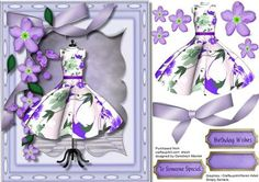 Beautiful Dress and Lilac Blossom  on Craftsuprint - Add To Basket!