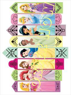 Disney #Princess bookmarks birthday party loot bag DIY by Aluminumguy, $5.00