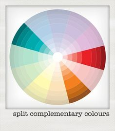 split complementary color scheme - Google Search