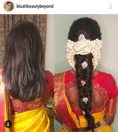 Makeup ideas for wedding guest hair style 26 Ideas - Frisuren Hochzeitsgast South Indian Wedding Hairstyles, Wedding Guest Hairstyles, Indian Hairstyles, Wedding Guest Makeup, Bridal Makeup Looks, Bridal Beauty, Bridal Hair Buns, Bridal Hairdo, Saree Hairstyles