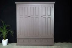 Picture of Custom Entrance Hall Cupboard Hall Cupboard, Pine Wardrobe, Entrance Hall, Paint Finishes, Tall Cabinet Storage, Porch, Home Decor, Balcony, Entryway