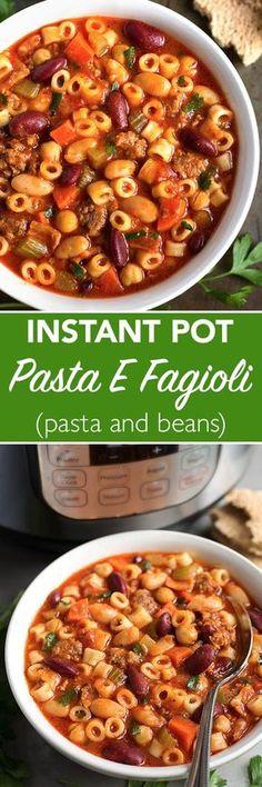 Weight Watcher\'s Olive Garden Slow Cooker Pasta Fagioli   Slow ...