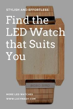 Are you not tired of ordinary watches? Well get our latest LED watches, limited quantity available Led Watch, Trendy Accessories, Tired, Bamboo, Watches, Wristwatches, Im Tired, Clocks
