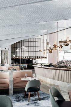 Love the soft muted tones of this color scheme #restaurantdesign