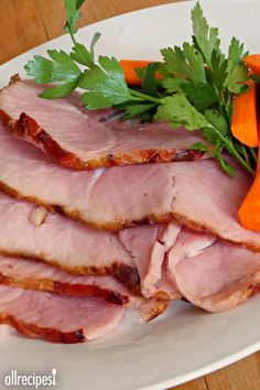 "Not So Sweet Ham | ""Traditionally, ham is rubbed with brown sugar and other sweet ingredients. I like my ham to taste like ham and I like my recipes to be simple. Here's an easy recipe that I'm sure your whole family will enjoy."""