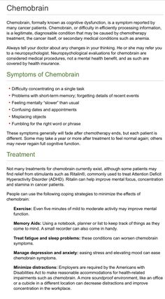 Help for Chemo Brain ( from MD Anderson)