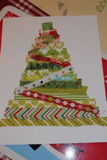 Fun Christmas tree craft for kids - got our Christmas card idea this year :)
