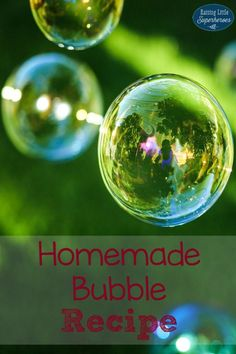 Our Homemade Bubble Recipe is not only easy-to-make but it is also a fun activity for kids too.