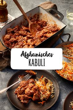 Kabuli - according to Afghan recipe Dinner Meat Main course World discoverer Afghanistan Internation Beef Dishes, Rice Dishes, Tasty Dishes, Meat Recipes, Wine Recipes, Healthy Recipes, Food Staples, Everyday Food, International Recipes