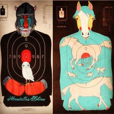 blog post > Jennifer Davis Art: Custom Hand-Painted Paper Shooting Targets