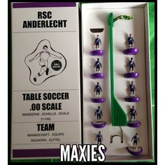RSC Anderlecht Tabletop Football Soccer Team Maxies (BEL) (Subbuteo Zeugo)