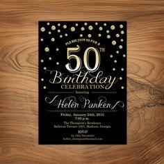 50th Birthday Invitation / 30th 40th 60th by TheStarDustFactory