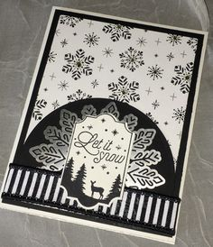 Let it Snow. Merry little labels, merry little Christmas DSP, Christmas card, stampin up