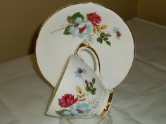VINTAGE DELPHINE CHINA TEACUP AND SAUCER