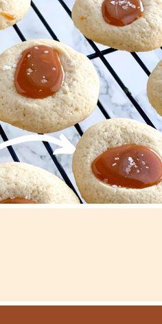 Thumbprint Cookies Recipe, Buttery Cookies, Baking Cupcakes, Homemade Ice Cream, Sea Salt, No Bake Cake, Christmas Cookies, Food Videos, Cookie Recipes
