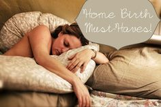 Home birth must-have list from Immaculate Mama Blog