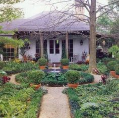 landscaping ideas for front of house | Nice path to the front door and I like the use of green plants, no ...