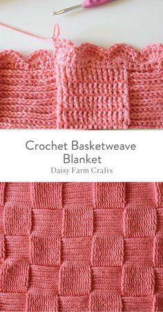 Crochet Afghans 660199626598620549 - Crochet Basketweave Blanket – Free Pattern Source by Crochet Afghans, Motifs Afghans, Crochet Stitches Patterns, Afghan Crochet Patterns, Basket Weave Crochet Blanket, Baby Blanket Crochet, Crochet Blankets, Tunisian Crochet Blanket, Blanket Basket