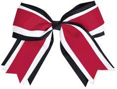 Cheerleading Hair Bows, Cheer Hair Bows, Ribbon Hair Bows, Cheerleader Hair, Cheerleading Accessories, Black Ribbon, Hair Color, Polyvore, Hair Accessories