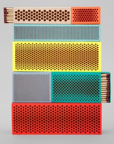 Developed by Danish design house HAY with help from Swedish designer Clara von Zweigbergk, and American product designer Shane Schneck, these bright, crisp new takes on the matchbox are part of a project called Strike.