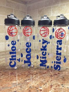 Personalized Basketball Water Bottles- Team gifts on Etsy, $13.00