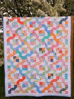 25% off Coupon Code - Winding Nine Patch Quilt Pattern PDF INSTANT DOWNLOAD Layer Cake or Jelly Roll Friendly via Etsy