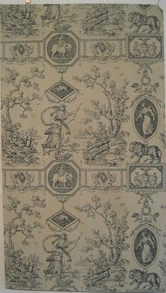 Beautiful Antique 19th C.  French Zuber Neoclassic Toile Wallpaper (8963) #Wallpaper via eBay