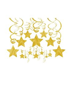 Gold Foil Star Hanging Decorations | Wholesale Themed Tableware Décor