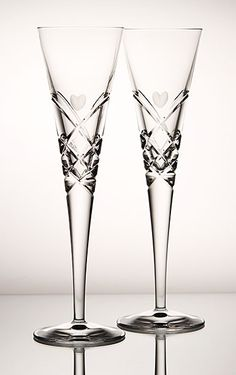 Grey-Cut Hearts Adorn Reed & Barton Heart Flutes ~ delicate pattern, highlighted by exceptional, deep cut crisscross designs Toasting Flutes, Crystal Glassware, Reed & Barton, Party Stuff, Perfect Wedding, Hearts, Delicate, Pairs, Wedding Ideas