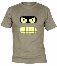 Camiseta con la cara de Bender de Futurama