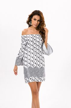 ad4204f402dc7 Beach Dress Plus Size Off Shoulder Bohemian