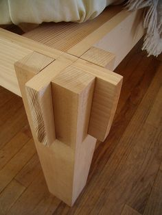 Japanese joinery, simple, functional. My next bed purchase.