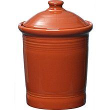 Fiesta Paprika Large Canister 3 Qt 9.75 x 7.25 in