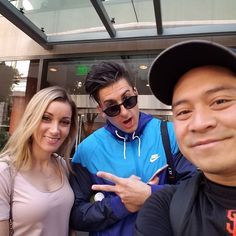 Ran into @jessewelle again and finally got to meet @jeanapvp from #prankvsprank. You two are amazing. #bfvsgf #prankvsprank #youtube #pvp #dopefreshnation #saan by gabe_826