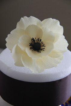 Paper Anemone Cake Topper  Paper Flower  Anemone by FlowerBazaar, $8.50