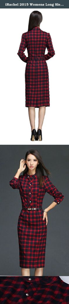 iRachel 2015 Womens Long Sleeve Plaids Pencil Shirt Dress Casual Slim Tunic Dress. Item Details The size is asian size,please check product description before ordering to ensure accurate fitting There may be 1-3cm deviations.Please compare your vital statistics to the size measurement in the description before purchase Asian Size S(cm/inch): Length 109/43.08inch; Bust:84/33.07inch; Waist;86/33.86inch; Sleeve Length:59/23.23inch; Shoulder:36/14.17inch Asian Size M(cm/inch): Length...